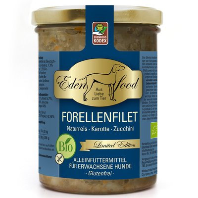 Hundemenü Bio-Forellenfilet - limited edition (400g)