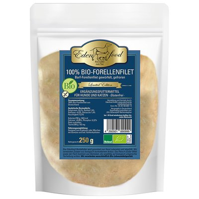 100% BARF Bio-Forellenfilet - limited edition (250g)